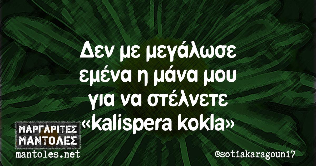Δεν με μεγάλωσε εμένα η μάνα μου για να στέλνετε «kalispera kokla»